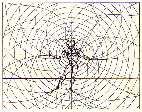 Organic man: movements and emanations create an imaginary space