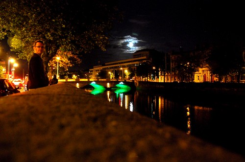 spooky night scene, dublin