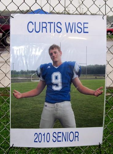 Curt's senior football poster