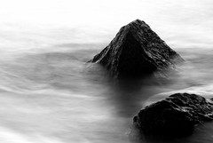 Misty Mountains (Stevowa) Tags: longexposure beach misty los rocks angeles smooth dockweiler slowwater