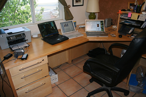 home office example courtesy of cogdogblog on Flickr