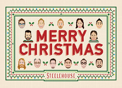Steelehouse Christmas Card (invisibleElement) Tags: christmas portraits crossstitch retro card greeting invisibleelement steelehouse
