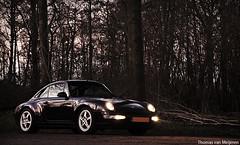 Porsche 993 Targa (Thomas van Meijeren) Tags: blue trees nature netherlands forest dark evening photo rotterdam woods nikon shoot 4 911 mini s turbo porsche 4s carrera targa 996 993 997 964 d90 lekkerkerk loetbos shootje