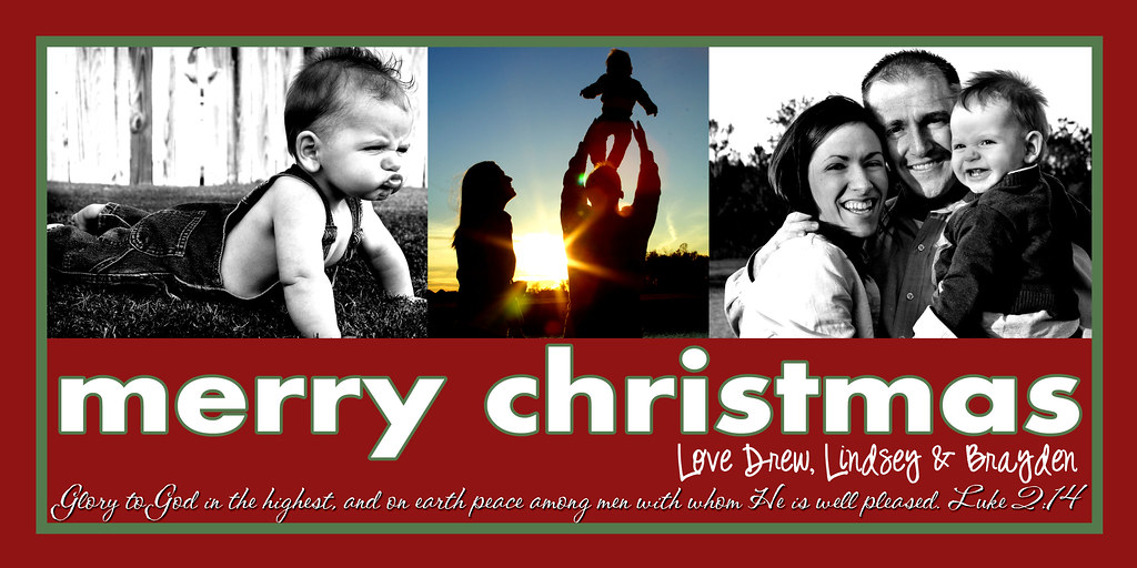 christmas card no last name