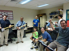 Playing Rockband in the MLAB @ FAU
