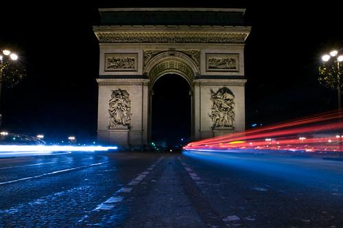 Fotografia de larga exposicion de luz