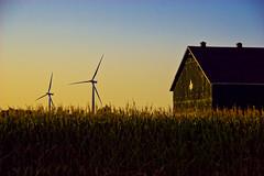 Canadian wind farm (FarFlungTravels) Tags: mood wind mapleleaf windturbine windfarm canadaontariochathamkentcountrysidefarmlakeeriefarmlandwind