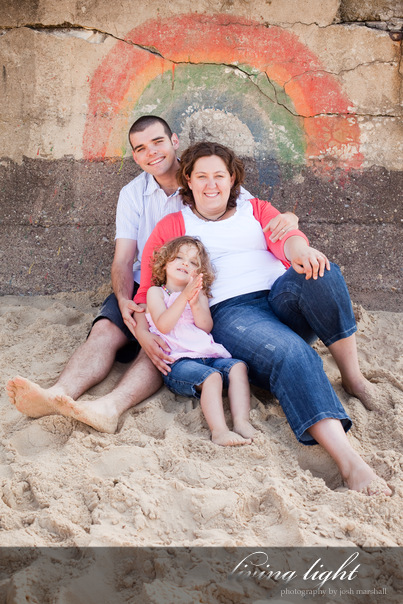 Newcastle Beach family portrait session.