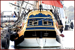 First Class Cabins Are At The Rear (Meremail) Tags: ocean old water boat ship australia brisbane queensland sail mast rigged endeavour squarerigger flickrgolfclub 7daysofshooting wornandweatheredwednesday worldworx ~~api~~ themagicalworldofphotography week25blue