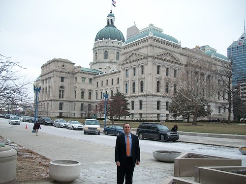 Richard in front of the Indiana State Capital in Indianapolis