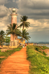 Lighthouse - Galle, Sri Lanka (Pixychik) Tags: lighthouse grass seaside path lane srilanka galle hdr hpc dirtpath pixychik renusingh
