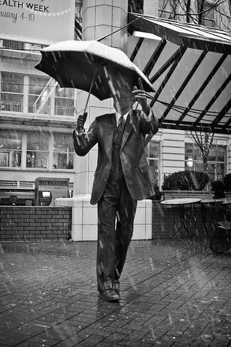 Umbrella for the Snow