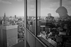 (Joulio) Tags: windows man tower glass japan skyscraper reflections tokyo office nikon shinjuku shadows view floor government japon metropolitan enormous 45th vast gratteciel takeshimaya