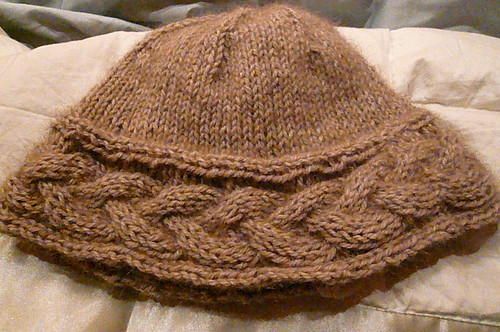 Possum Cable Hat Back