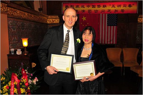 Paul Stevers,  founder of CharityHelp International with Daway Zhou, founder of the  World Peace Gala.
