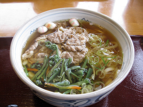 Udon with Beef and Wild Mountain Greens