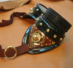 Steampunk goggles with iris (Boilermonster) Tags: iris goggles etsy brass gears steampunk