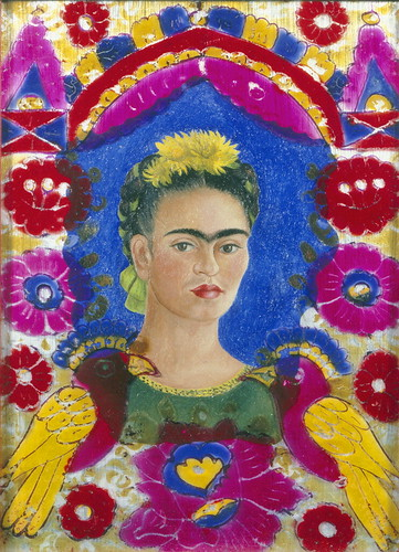Frida Kahlo - The frame, Self-portrait (1937-38) by petrus.agricola