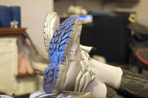 """Adam's """"moon boots"""""""