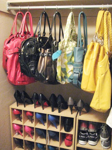 purse organizer for closet ideas 2