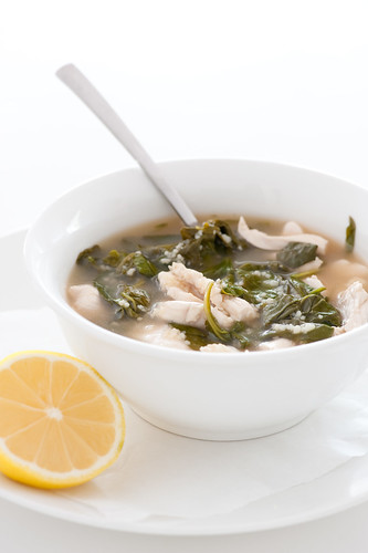 chicken & couscous soup with spinach