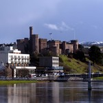 River Ness - Inverness Castle Scotland from Friars Bridge thumbnail