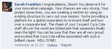 Happy Coca-Cola Employees Facebook