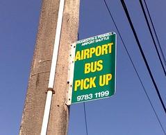 Airport bus stop