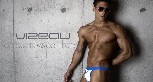 man hot colour male fashion model underwear body guys thong mens brief malemodel physique trims mensunderwear vizeau