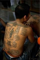 Beautiful Back (Ursula in Aus) Tags: tattoo thailand yantra tattooing waikhru nakhonpathom นครปฐม ประเทศไทย sakyant tattoofestival รอยสัก watbangphra nakhonchaisi earthasia nakhonchaisri วัดหลวงพ่อเปิ่น ครู รูปสัก วัดบางพระ ลายสัก สักยันต