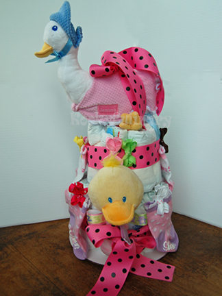 Jemima Puddle Duck Diaper Cake