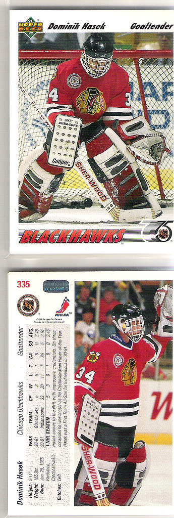 Dominik Hasek Upper Deck RC #335