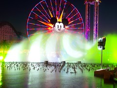 World of Color Testing (rpmckay) Tags: world color disneyland disney mickey dca disneylandresort wonderfulworldofcolor worldofcolor funwheel mickeyfunwheel