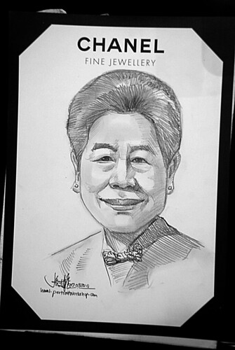 Portrait live sketching for Chanel Fine Jewellery Exhibition Day 1 - 6