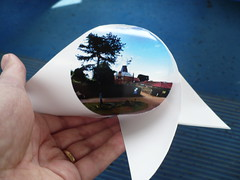 Wimbledon Common Windmill Two Cylinders Pinwheel (oschene) Tags: windmill origami panoramic pinwheel wimbledoncommon flexify developable curvedsurface twocylinders bicylinder steinmetzsolid