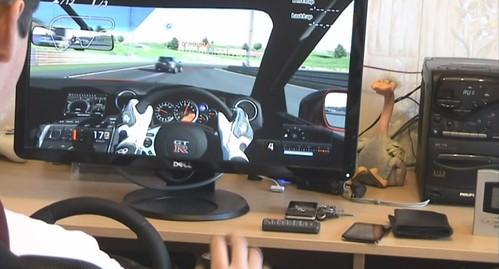 Gran Turismo 5 Prologue ir Logitech Drive Force Pro