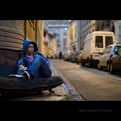 Day Sixty Five (Seb Huruguen) Tags: life street city light boy portrait people music france night canon project relax eos 50mm lights big student shoes day ipod f14 daily explore sofa etudiant 7d 365 usm seb toulouse 50 rue frontpage ef 65 sebastien projet mattafix huruguen
