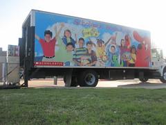 Book fair truck unloading