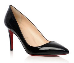 Christian Louboutin black patent pump
