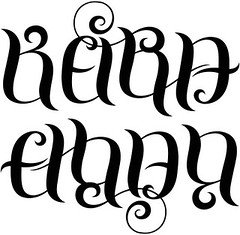 """Ethan"" & ""Keira"" Ambigram"