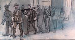 close up (Soren's WW1 paintings & drawings) Tags: gate ghosts sherwood menin forresters