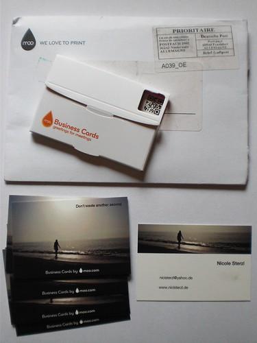 Visitenkarten (Adresse etc. retuschiert.)