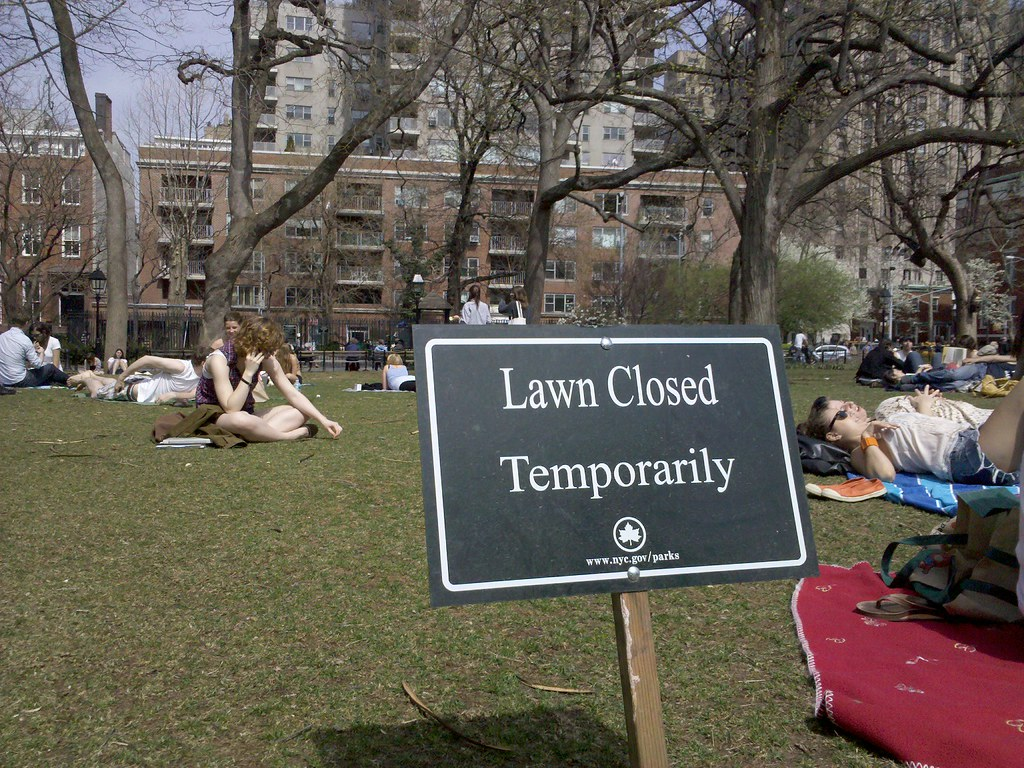 Lawn Temporarily Closed? Fuck You
