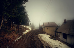 Fog mud and snow (NikolaT) Tags: street travel winter light sky mountain snow fog photoshop canon walking raw mud serbia april around hdr kop srbija cs3 treska kopaonik photomatix sigma1020 tonemapped singlerawhdr 450d nikolat tonemapp nikolatomovic