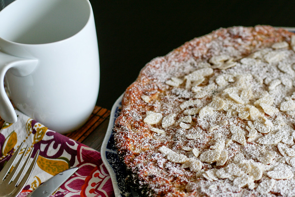 Easy Skillet Lemon Almond Cardamom Tart