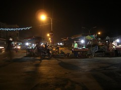 Stung Treng market at night