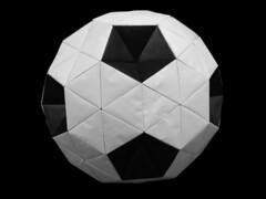 "Truncated Icosahedron - Origami ""Soccer Ball"" (Modular Origami) (Origami Tatsujin 折り紙) Tags: art colors paper paperart blackwhite origami colorful geometry modular hexagon worldcup multicolored japaneseart papiroflexia pentagon soccerball module papercraft unit papercrafts polyhedra modularorigami truncatedicosahedron buckyball おりがみ multidimensional unitorigami 折り紙 geometricbeauty geometricart buckeyball cooperativelearning equilateraltriangle colorfulart worldcup2010 origamipolyhedra mathematicsorigami origamitechniques futureprofessionalsday2010 origamisoccerball flatunit equilateraltriangularflatunit"