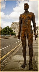 Gormley on Waterloo Bridge (louisberk.com) Tags: london southbank gormley waterloobridge epsonrd1 may2007 gormleystatue