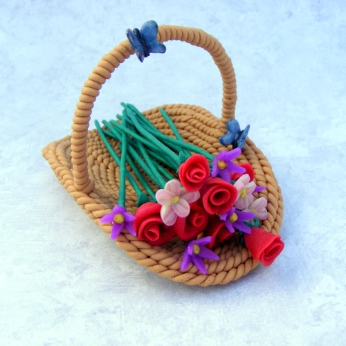 Flower Basket 1:6 Play Scale