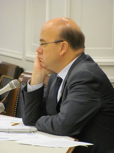 Rep. McGovern listens to the witnesses share their insights on the human rights situation in Bahrain